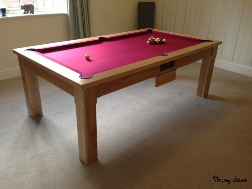 Solis oak furniture pool table manufactured in the uk