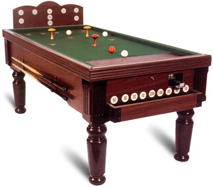 Antique Bar Billiard Table And New Bar Billiards Spares Mushrooms - Pool table with pegs
