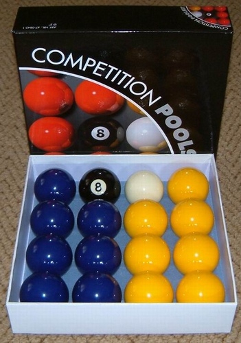 blue yellow balls for pool