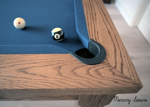 Solid oak stained chestnut- mercury family dining  pool table
