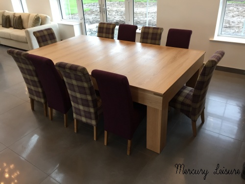8ft Cube Pool Table Dining Table Shown With 10 Chairs