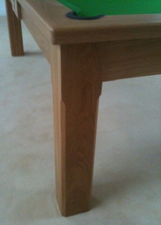 Solid oak leg