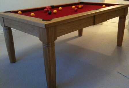 6 foot diner pool table in solid oak