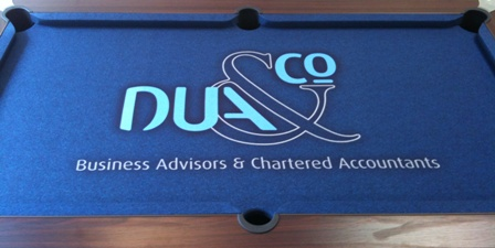 corporate branding pool table cloth