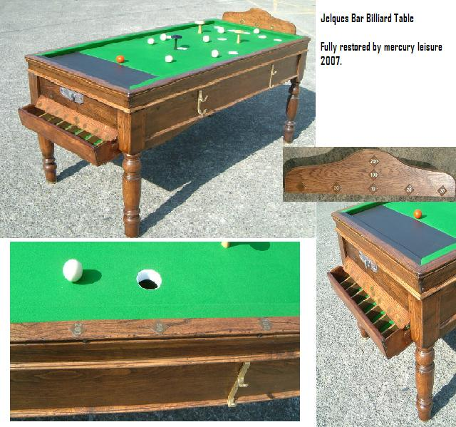 Jelques Bar Billiard Table Restoration