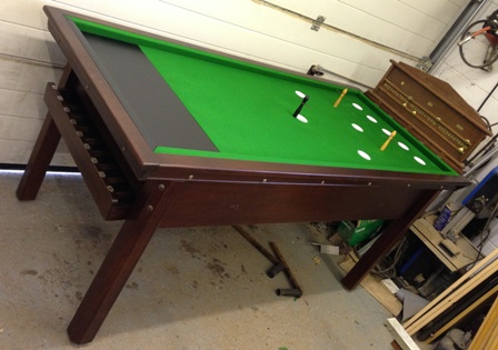 Antique Bar Billiard Table And New Bar Billiards Spares Mushrooms