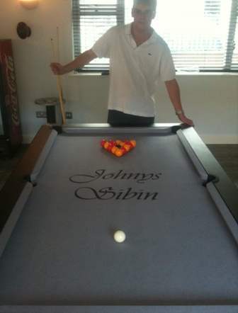 Branded And Printedl Pool Table And Logo Cloth Uk