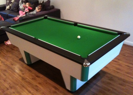 premier league pool table with green cloth