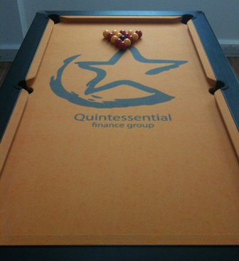 quintessential finance logo pool table cloth
