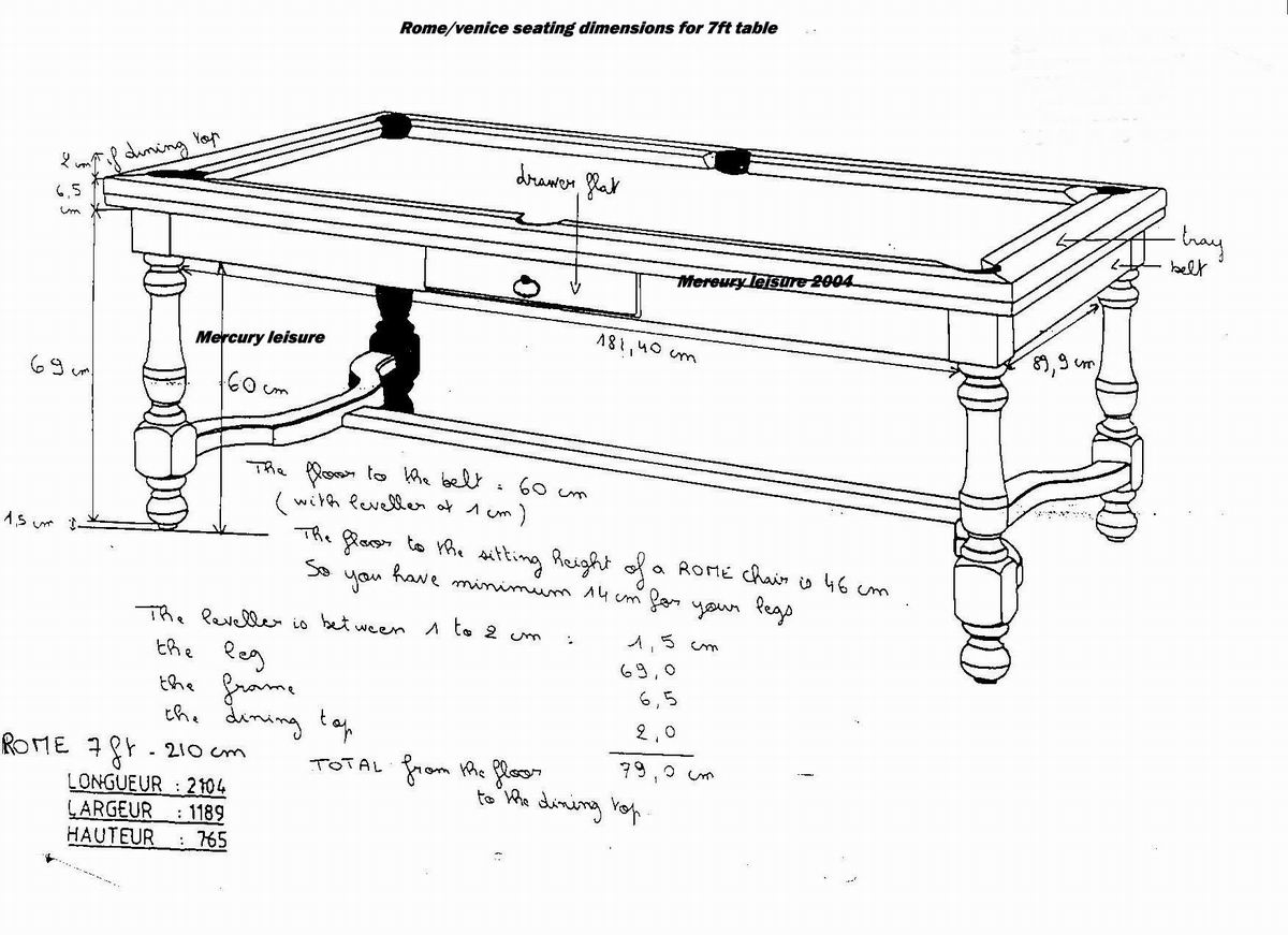 Need pool table plan woodworking talk woodworkers forum - Dimension table de billard standard ...