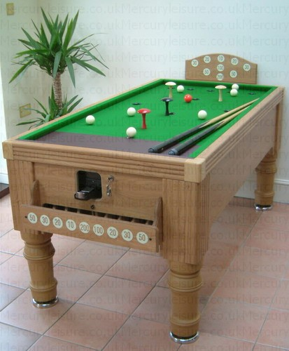 Oak Colour Bar Billiard Table ...