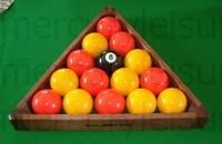 ... 15 Ball 2 Inch Mahogany Pool Ball Triangle