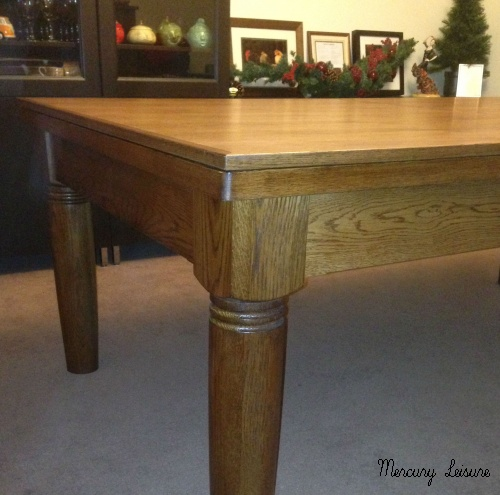 solid oak stained chestnut pool table dining table