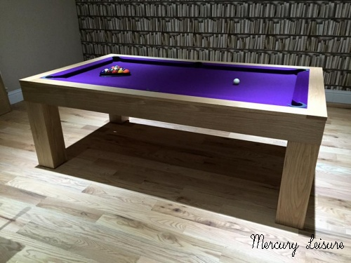 Solid Oak Pool Table And Converting Pool Dining Table From UK - Pool dining table 7ft