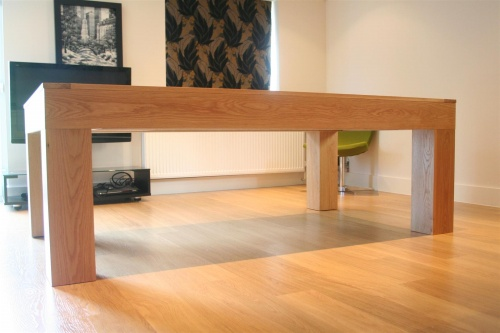Solid Oak Pool Table And Converting Pool Dining Table From UK - Pool dining table with bench